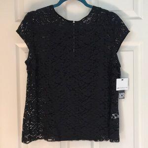 NWT Liz Claiborne black lace blouse w/ back zipper